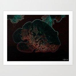 NEON NIGHT FISH Art Print