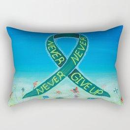 Kidney Disease Awareness, Never, Never, Never Give Up Rectangular Pillow