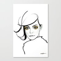 golden girls Canvas Prints featuring MY GIRLS . GOLDEN EYE LASHES by Camila Giacoia