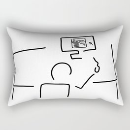web designer graphic artist Rectangular Pillow
