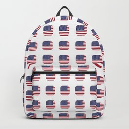 flag of usa- with soft square Backpack