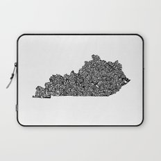 Typographic Kentucky Laptop Sleeve