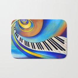 Redemessia - spiral piano Bath Mat