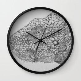 Graphite Chameleon Wall Clock