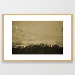 Utah Mountain in Sepia Framed Art Print