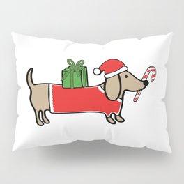 Christmas dachshund Pillow Sham