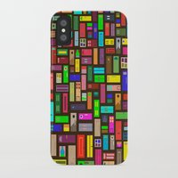 doors iPhone & iPod Cases featuring Doors - Black by Finlay McNevin
