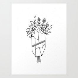 Crystal Flower Bouquet Art Print