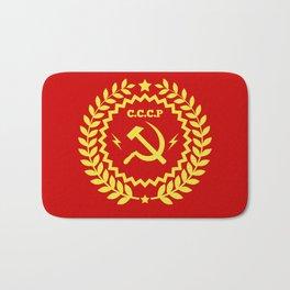 Communist Hammer & Sickle CCCP Badge Design Bath Mat