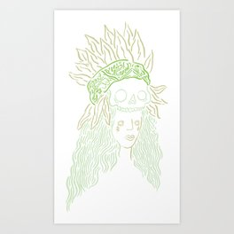 Camp Fire Art Print