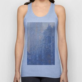 1894-Claude Monet-Rouen Cathedral Façade and Tour d'Albane (Morning Effect)-74 x 106 Unisex Tank Top