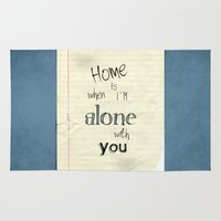 home sweet home Area & Throw Rugs featuring Home by Brandy Coleman Ford