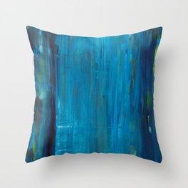 blue vertical Throw Pillow