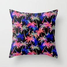 Falling Palms - Nightlight Throw Pillow