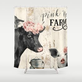 Pink Nose Farm I Shower Curtain