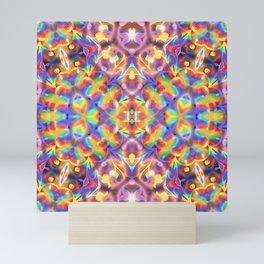 Rainbow Butterfly Geometrica Mini Art Print