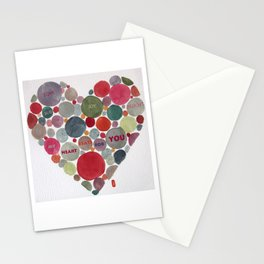 VALENTINE, my heart beats for you Stationery Cards