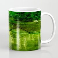 river Mugs featuring river by agnes Trachet