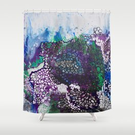 Into The Drink She Goes Shower Curtain