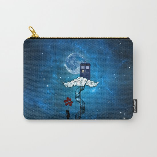 Tardis Stair banksy ballons Girl Carry-All Pouch