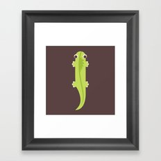 Letter I // Animal Alphabet // Iguana Framed Art Print