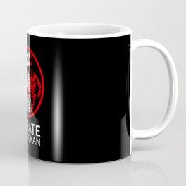 Shotokan Karate Symbol and Kanji white text Coffee Mug