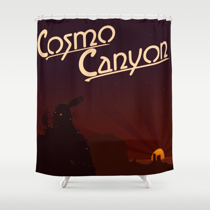 Final Fantasy VII - Cosmo Canyon Tribute Shower Curtain