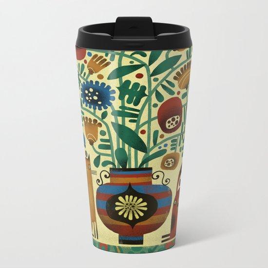 FLOWER ARRANGEMENT Metal Travel Mug