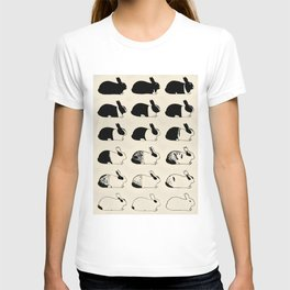 Studies of heredity in rabbits- William E.Castle - 1919 Cute Bunny Pattern T-shirt