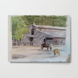 Old Horse Barn Metal Print