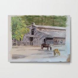 Old Horse Barn Metal Print