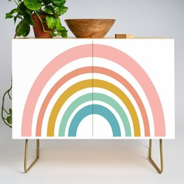 Simple Happy Rainbow Art Credenza