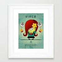 virgo Framed Art Prints featuring VIRGO by Angelo Cerantola