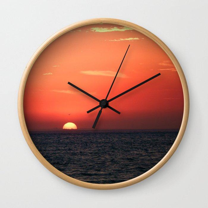aussie sky Wall Clock