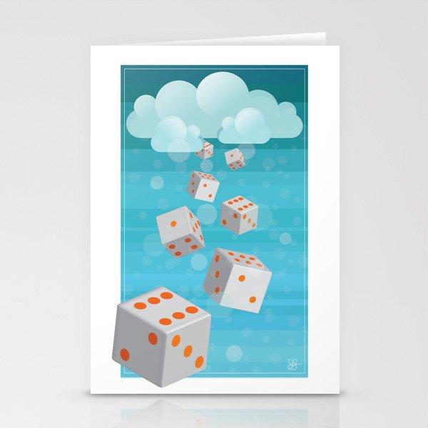 Raining Dice Stationery Cards
