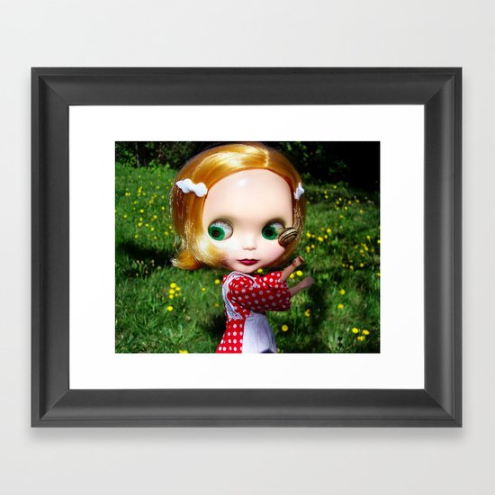 Gloha Meets Snail Framed Art Print