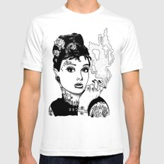Tiffany White SMALL Mens Fitted Tee