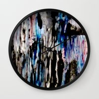 grunge Wall Clocks featuring Grunge by Paige Elizabeth