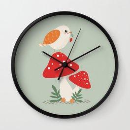 Autumn Bird Wall Clock