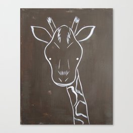 No. 004 - The Giraffe (Modern Kids & Nursery Art) Canvas Print