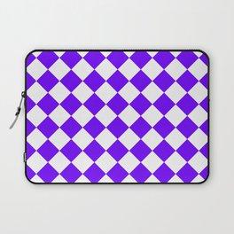 Diamonds - White and Indigo Violet Laptop Sleeve