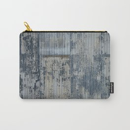 Warehouse District -- Vintage Industrial Farm Chic Abstract Carry-All Pouch