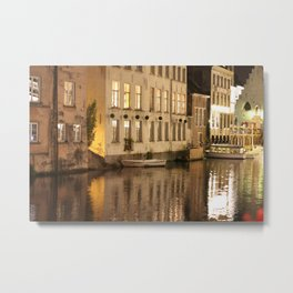 Light and Water, Gent (Ghent) Metal Print