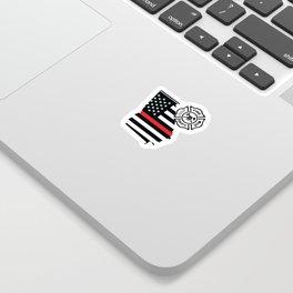 Georgia Firefighter Shield Thin Red Line Flag Sticker