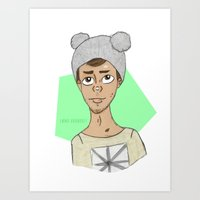 liam payne Art Prints featuring liam payne by Emma Raunholt