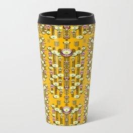 Rain showers in the rain forest of bloom and decorative liana Metal Travel Mug