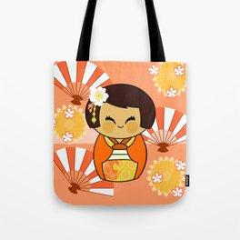 Kokeshi Momo Tote Bag