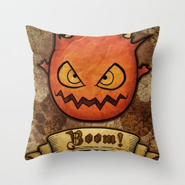 boom ! bomb Throw Pillow