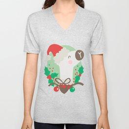 Christmas llama Unisex V-Neck