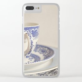 China cup and plates. Clear iPhone Case
